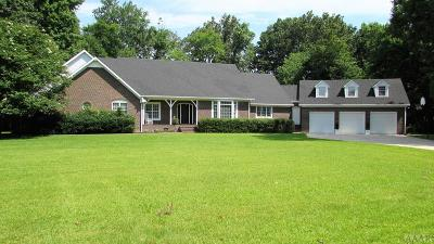 Pasquotank County Single Family Home For Sale: 132 Dances Bay Road