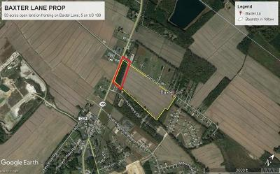 Moyock Land/Farm For Sale: Hwy 168