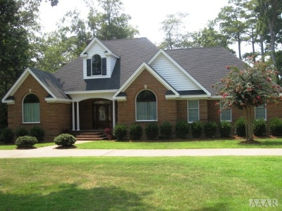 Perquimans County Single Family Home For Sale: 225 Beech Point Dr