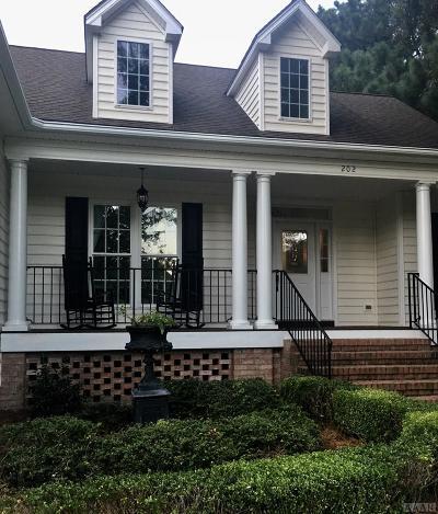 Chowan County Single Family Home For Sale: 202 Lakeside Drive