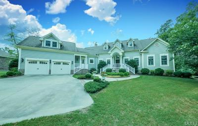 Perquimans County Single Family Home For Sale: 106 Lake Mattamuskett Loop