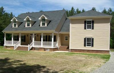 Gates County Single Family Home For Sale: 13 Wells Lane