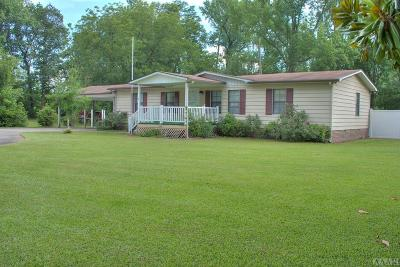 Pasquotank County Single Family Home For Sale: 669 Okisko Road