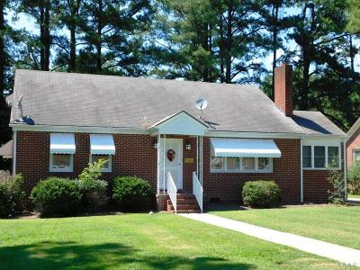 Hertford County Single Family Home For Sale: 408 S Curtis St