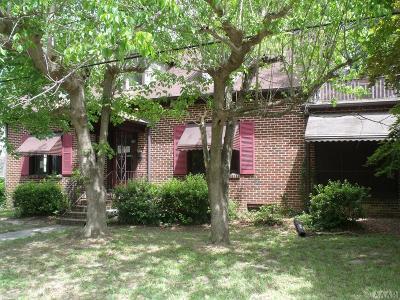Hertford County Single Family Home For Sale: 208 S Carolina Ave