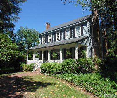 Hertford County Single Family Home For Sale: 419 Union Road