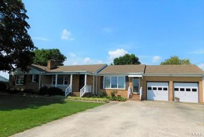 Hertford County Single Family Home For Sale: 1344 W Hwy 158