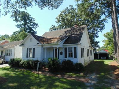 Hertford County Single Family Home For Sale: 709 W First Street