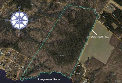 Perquimans County Land/Farm For Sale: Boat Ramp Rd