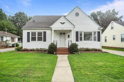 Pasquotank County Single Family Home For Sale: 214 Harrell Street
