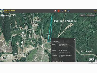 Anson County Residential Lots & Land For Sale: Pitt Road