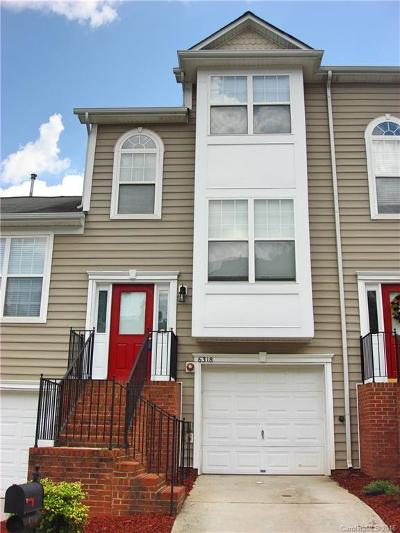 Charlotte NC Condo/Townhouse Sold: $115,000