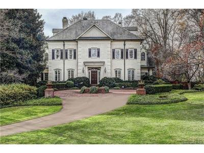 Mecklenburg County, Union County, Cabarrus County, Iredell County, Gaston County, York County, Lancaster County, Rowan County, Catawba County, Lincoln County Single Family Home For Sale: 300 Eastover Road