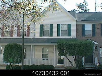 Charlotte Condo/Townhouse For Sale: 6362 Windsor Gate Lane