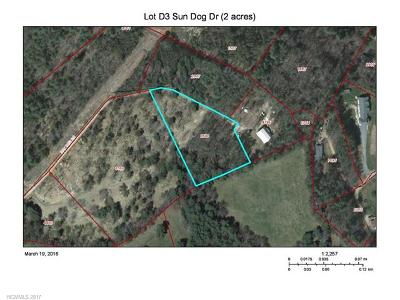 Weaverville Residential Lots & Land For Sale: 99999 Sun Dog Drive #D3