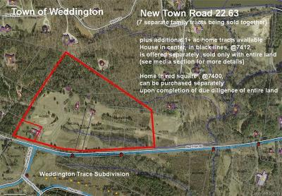 Weddington Residential Lots & Land For Sale: 22.63 ac near 7412 New Town Road #7 indepe