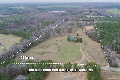 Anson County Single Family Home Under Contract-Show: 1150 Ansonville Polkton Road