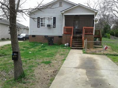 Charlotte NC Single Family Home For Sale: $98,900