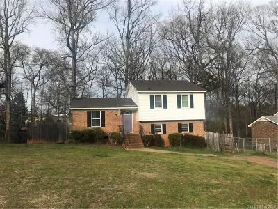 Charlotte NC Single Family Home For Sale: $99,900