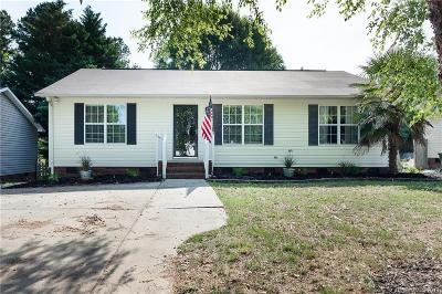Concord NC Single Family Home For Sale: $155,000