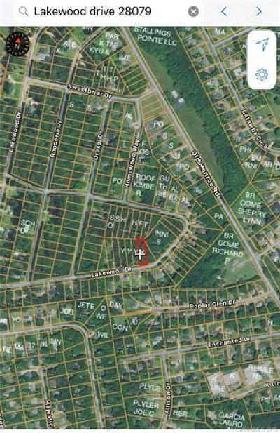 Indian Trail Residential Lots & Land For Sale: Lots 9 & 10 Lakewood Drive #9 &