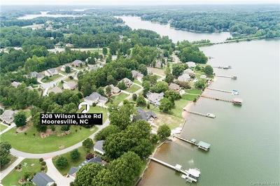 Mooresville Single Family Home For Sale: 208 Wilson Lake Road