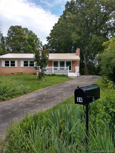 Asheville Single Family Home For Sale: 34 Birchwood Lane