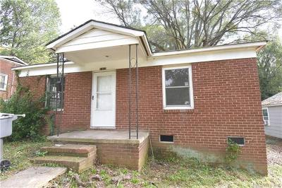 Charlotte NC Single Family Home For Sale: $82,500