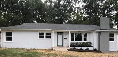 Charlotte Single Family Home For Sale: 2500 Elkwood Circle
