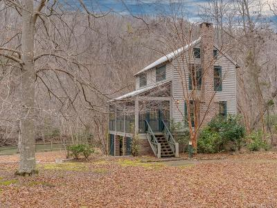 Bat Cave, Chimney Rock, Black Mountain, Lake Lure, Rutherfordton, Columbus, Mill Spring, Tryon, Saluda Single Family Home Under Contract-Show: 3319 Green River Cove Road