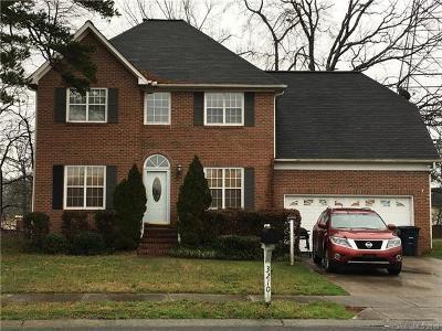 Indian Trail Single Family Home For Sale: 3210 Fairington Drive