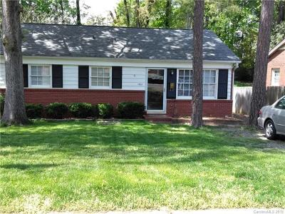 Charlotte NC Single Family Home For Sale: $185,000