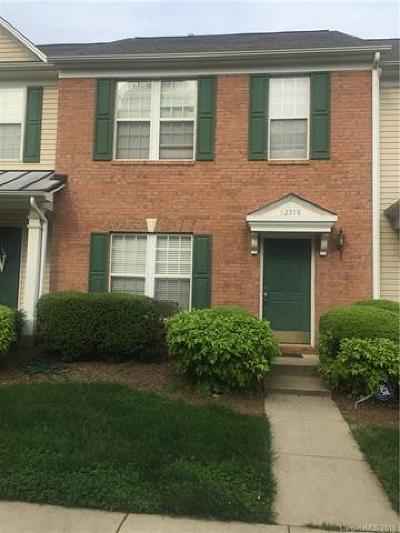 Charlotte Condo/Townhouse For Sale: 12578 Jessica Place