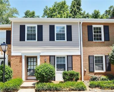Charlotte Condo/Townhouse For Sale: 4605 Hedgemore Drive #D