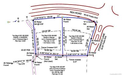 Waxhaw Residential Lots & Land Under Contract-Show: Lot 4 Rea Road