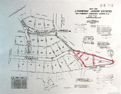 Cabarrus County Residential Lots & Land For Sale: 1615 Colfax Drive