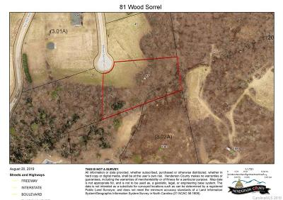 Henderson County Residential Lots & Land For Sale: 81 Wood Sorrell Lane