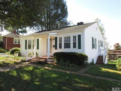 Alexander County, Caldwell County, Ashe County, Avery County, Watauga County, Burke County Single Family Home Under Contract-Show: 520 Edgewood Drive SW