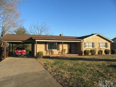 Caldwell County, Alexander County, Watauga County, Avery County, Ashe County, Burke County Single Family Home For Sale: 1103 Salem Road