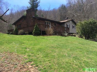 Ashe County Single Family Home For Sale: 282 Calhoun Rd