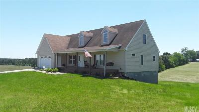 Alexander County, Caldwell County, Ashe County, Avery County, Watauga County, Burke County Single Family Home For Sale: 2899 Dry Ponds Rd