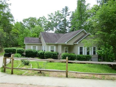 Otto Single Family Home Pending/Under Contract: 215 Fox Hollow Circle