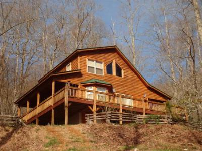 1395 Muskrat Valley Lane  Home for Sale Franklin NC