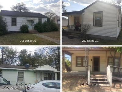 Fayetteville NC Single Family Home For Sale: $59,000