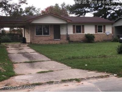 Fayetteville NC Single Family Home For Sale: $31,500