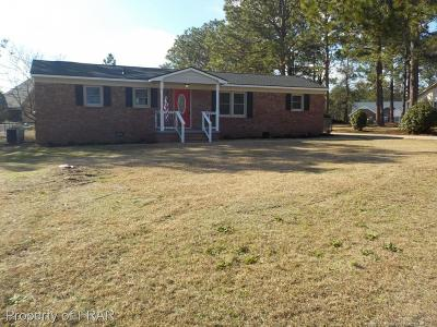 Fayetteville NC Single Family Home For Sale: $122,900