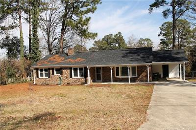 Fayetteville NC Single Family Home For Sale: $169,500