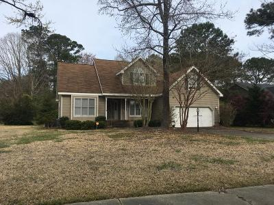 Goldsboro Single Family Home For Sale: 406 Plantation Place