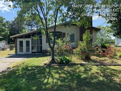 Goldsboro Single Family Home For Sale: 413 Whitfield Dr