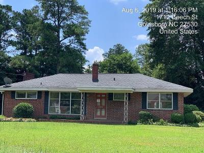 Goldsboro Single Family Home For Sale: 1712 Beech St